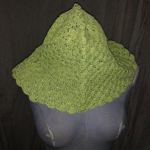 Talbots NEW lime green paper straw packable sunhat